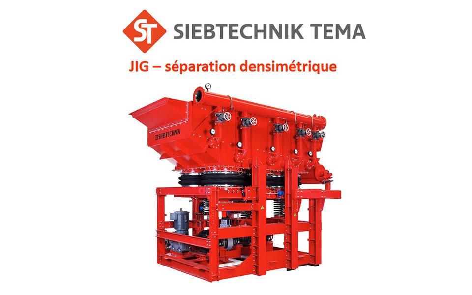 Separador densimétrico JIG Siebtechnik
